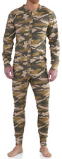 Carhartt Mens Midweight Cotton Union Suit Camo NEW Thermal Pajamas work wear L