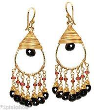 Koh Lipe 36~Black Spinel & Pink Ruby Drop Earrings with Metal Choice