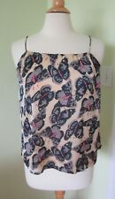 Tucker For Target Women's SMALL S Butterfly Print Strap Blouse Tank