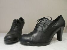 GABOR BLACK LEATHER LACE UP ANKLE BOOTIES BOOTS UK 8 (3378)