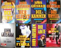 8 x John GRISHAM  Bücherpaket - Sammlung Taschenbücher - Gerichts Thriller Crime