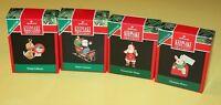LOT of 4 HALLMARK Keepsake Minis Coca-Cola Santa, Stamp Collector, 2 more NIP