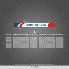 01138 Eddy Merckx Bicycle Stickers - Decals - Transfers - Paint Mask