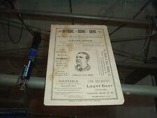 1889 Baltimore Orioles vs Washington Program Score Card