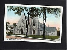 View of St. Mary's Church, Augusta, Maine, USA, Stamp/Postmark-1937