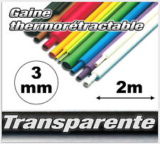 GT3-2# gaine thermo rétractable Transparente 3,2mm 2m ratio 2/1 transparent