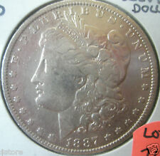 Scarce New Orleans Mint 1887 over 6 MORGAN SILVER DOLLAR