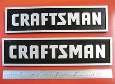 2 Sears Craftsman Tool Box Badges Large Chest Cabinet Emblem Decal Sticker Logo