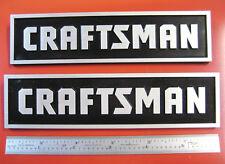 2 Sears Craftsman Tool Box Badges,Large: Chest/Cabinet,Emblem,Decal,Sticker,Logo