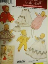 UNCUT SIMPLICITY ARCHIVES Crafts 5215 BABY DOLL sz S-M-L layette retro pattern