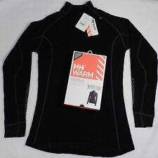 NEW Helly Hansen WARM Freeze w/Wool Base Layer Shirt Top 48543 Women XL Black