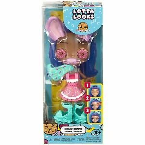 MATTEL LOTTA LOOKS COOKIE SWIRL DONUT BUNNY ACCESSORY PACK - AGES 5+