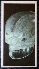 ROCK CRYSTAL SKULL  Mysterious Meso American Relic     Original Colour Card