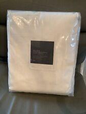 New Restoration Hardware Belgian Textured Linen Drape Curtain $355 White