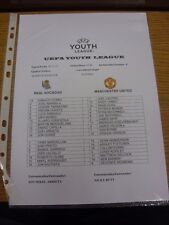05/11/2013 Real Sociedad Youth U19 v Manchester United Youth U19 [UEFA Youth Lea