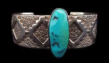 Turquoise Rug Pattern Bracelet - Navajo Handmade