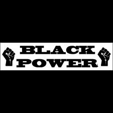 BLACK POWER  Bumper Sticker  Black Lives Matter  BUY 2 GET 1 FREE  Free Shipping