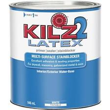 3 Pk KILZ 2 White 1 Qt Latex Interior/Exterior Stain Blocking Paint Primer 20002