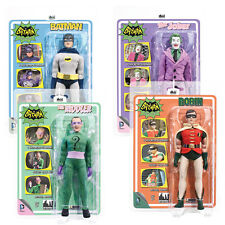 Batman 66 Classic TV Show Mego Style 8 Inch Figures Series 1: Set of all 4