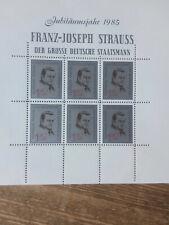 Vignettenblock zum 70. Geburtstag Franz Joef Strauß, 1985