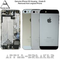 Genuine Apple iPhone 5S Back Rear Chassis Housing Grade B Cover with Parts