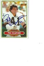 Phil Villapiano Raiders Autographed Card