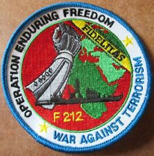 Fregatte KARLSRUHE Operation Enduring Freedom Marine Patch Abzeichen Navy