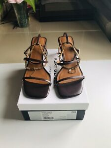 Kurt Geiger Blake Sandal Brown Leather Size 6 / 39 RRP £149