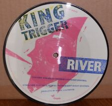 KING TRIGGER - RIVER - PUSH OR SLIDE - vinile 45 giri pictures - nuovo 1982