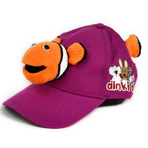 DINKI DI MATES CAP WITH CLOWN FISH ANIMAL PLUSH TOY HEAD & TAIL YOUTH SIZE **NEW