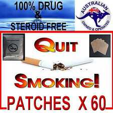 ANTI SMOKING STOP SMOKING & QUIT   HEALTH PATCHES  DRUG & STEROID FREE X 60