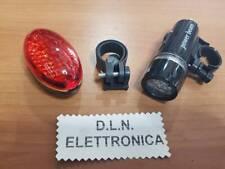 KIT LUCI BICI ANTERIORE POSTERIORE A LED PER BICICLETTA FARO FARETTO  BIKE