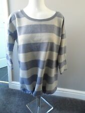 Next ladies maternity blue & grey striped sweatshirt top  size 12