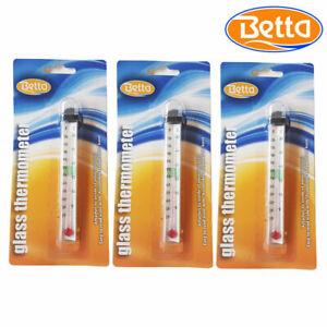 Betta Aquarium Thermometer Fish Tank Temperature Easy Read Tropical Marine Reef