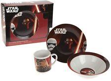 Star wars Breakfast Set 3 Pc Porcelain Plate Bowl Mug Children Kids Dinner Set