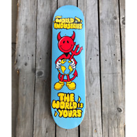 """Iconic 8.25"""" World Industries Devil Man - 'The World is Yours' Skateboard Deck"""