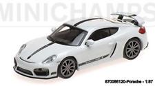 Minichamps 870066120- Porsche Caïmans GT4 –2016 – White W/ Noir Stripe & Noir