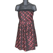 ELOQUII dress 14W The Limited formal strapless mini red black plaid a line plus