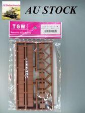1 pack (3 sets) N scale TGW LA-95 Bridge single track,brown color, model railway