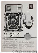 LINHOF Prospektblatt TECHNIKA 70 Kamera Prospekt (X2119