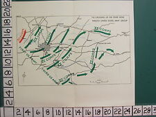 WW2 MAP ~ CROSSING OF THE RIVER SEINE 12th U.S ARMY GROUP XX CORPS