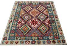Genuine Afghan Tribal Multi Handmade Reversible Wool Kilim  Area Rug 128x176 cm