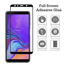 Samsung Galaxy A7 (2018) - Vetro Temperato Cornice Nera 3D Pellicola schermo