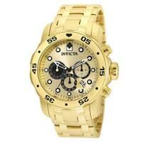 Invicta 24850 Men's Pro Diver Gold Dial Chronograph Dive Watch