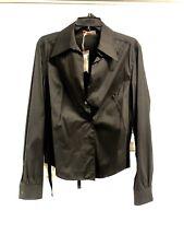 Prada Sport 240196 RTW Ladies Black Stretchy Fabric Shirt - Womens  XL
