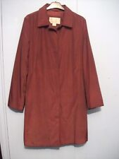 Ladies Nine West maroon long caot size M in a VGC