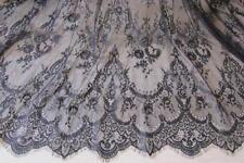 Ivory Chantilly French Eyelash Lace Fabric DIY Wedding Bridal Dress 59''/Y Veil