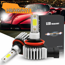2x H11 LED Headlight Kit H9 H8 Car Headlamp Bulbs 10000K Ice Blue Lamp Driving