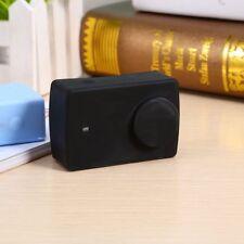 Custodia anti urto + copri obiettivo silicone NERO per Xiaomi Yi 2 4K cover case