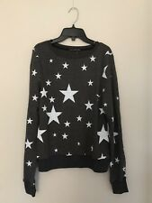 NEW WILDFOX Sz XS DISCO STARS HEATHER GRAY BBJ JUMPER SWEATSHIRT
